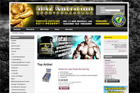 MAZ Nutrition Online Shop